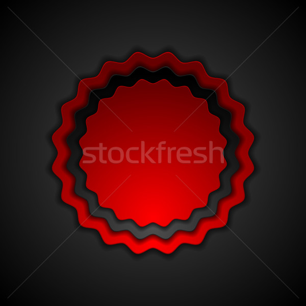 Rood zwarte contrast label sticker kunst Stockfoto © saicle