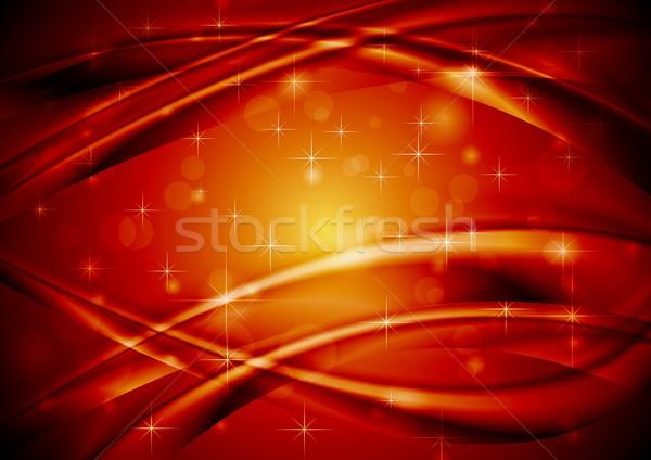 темно красный вектора аннотация волны дизайна Сток-фото © saicle