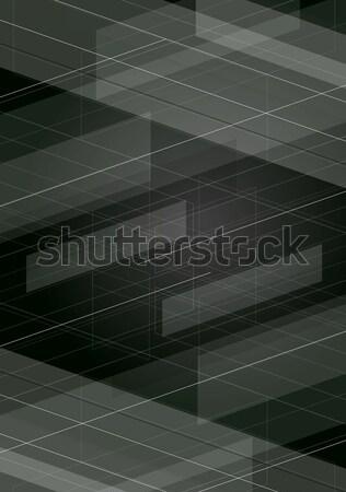 Ciemne tech minimalny wektora geometryczny projektu Zdjęcia stock © saicle