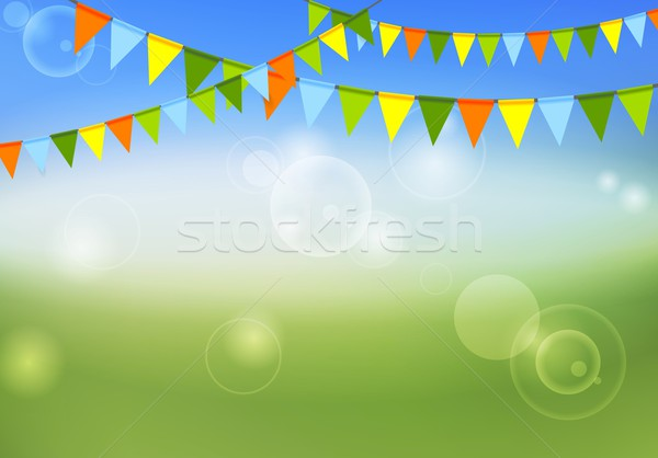 Party flags celebrate abstract background and summer colors Stock photo © saicle