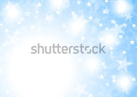 Blue shiny sparkling stars abstract background Stock photo © saicle