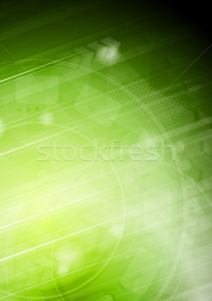Vibrant technical background with arrows Stock photo © saicle