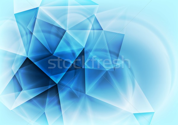 Hi-tech abstract blue design Stock photo © saicle