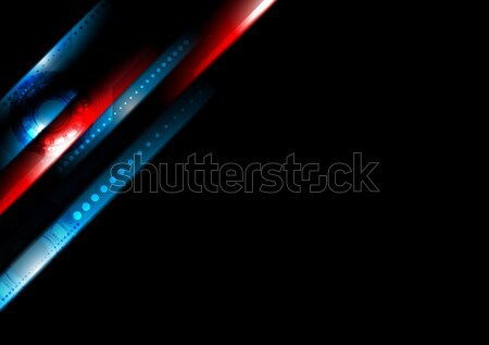Abstract hi-tech stripes vector background Stock photo © saicle