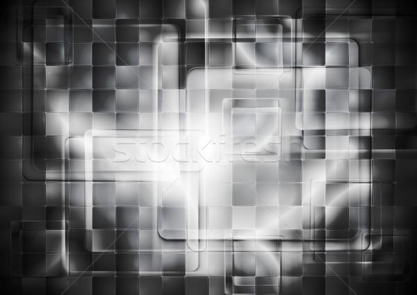 Transparent verre sombre résumé tech Photo stock © saicle