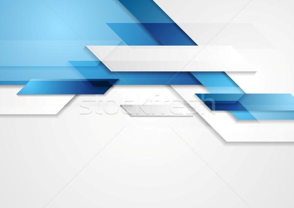 Blue shiny hi-tech motion background Stock photo © saicle