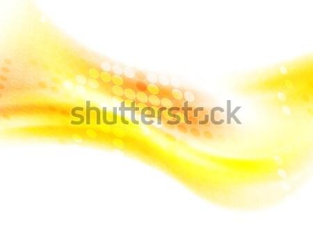 Abstract vector Geel golvend grafisch ontwerp Stockfoto © saicle