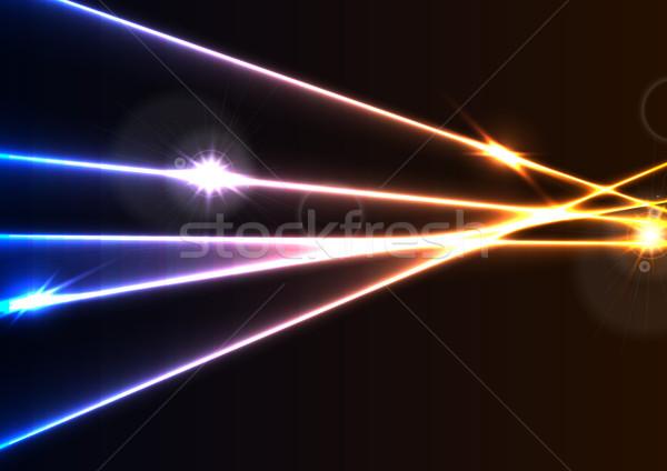 Resumen neón láser efecto Foto stock © saicle