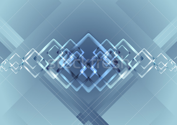 Azul vibrante tecnología vector scifi Foto stock © saicle