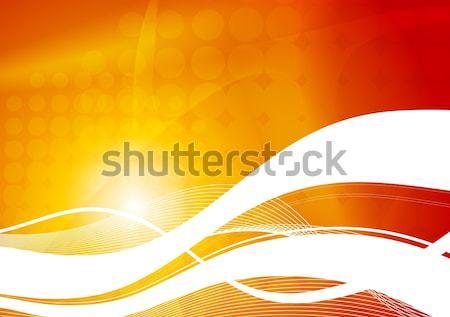 волнистый абстракция красивой аннотация волны Сток-фото © saicle