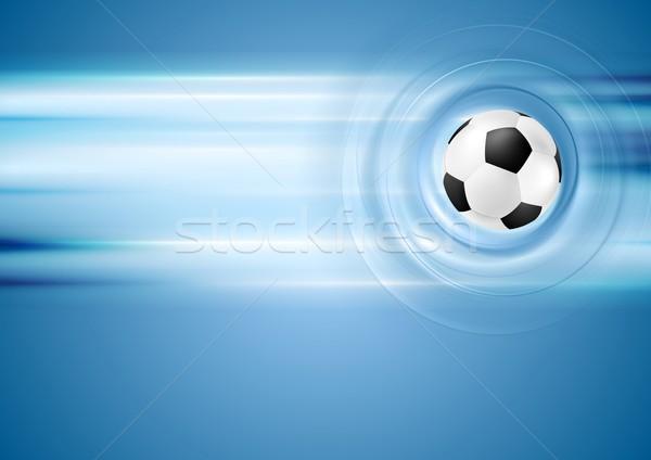 Bright blue football background Stock photo © saicle