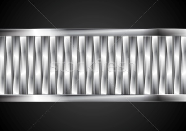Abstract tech banner from metallic stripes Stock photo © saicle
