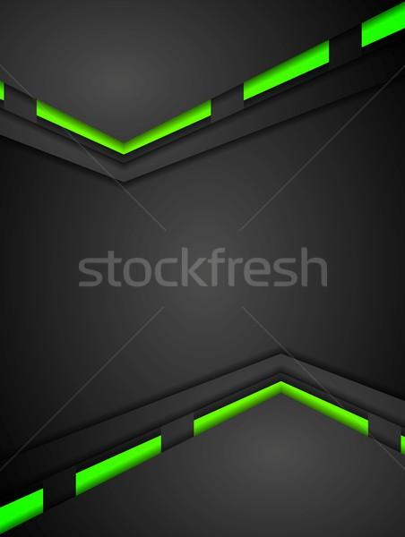 зеленый черный контраст градиенты Tech дизайна Сток-фото © saicle