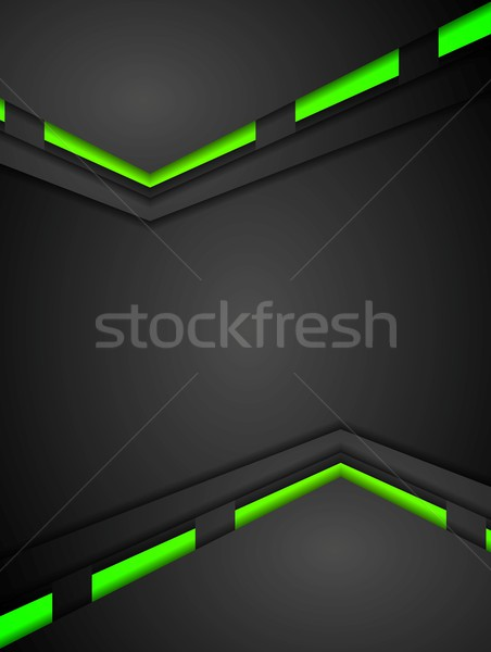 Verde preto contraste gradientes tecnologia projeto Foto stock © saicle