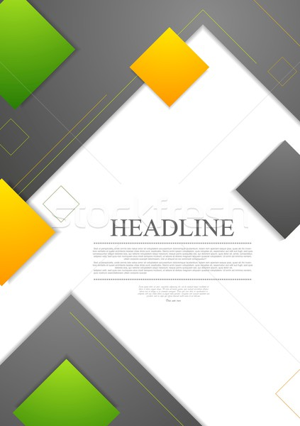 Minimal tech geometric flyer vector design Stock photo © saicle