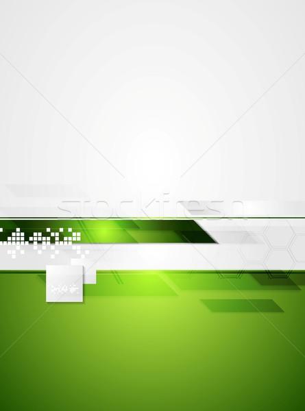 Verde cinza tecnologia contraste vetor abstrato Foto stock © saicle