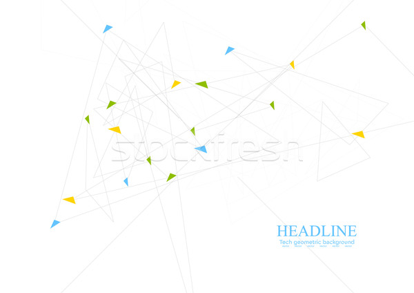 Abstract minimal tech polygonal background Stock photo © saicle