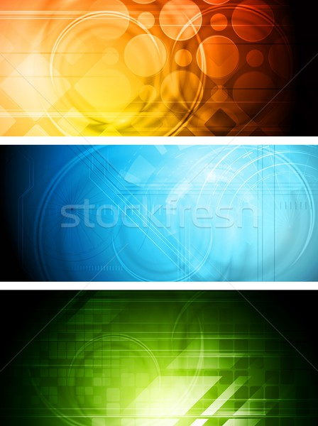 Technical banners Stock photo © saicle