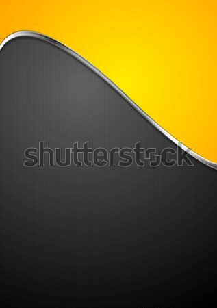 Abstract background with metallic silver wave Stock photo © saicle