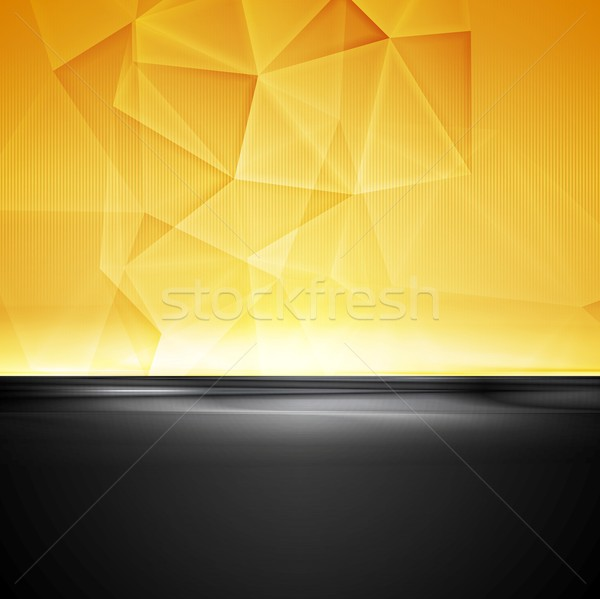 Abstract moderne contrast corporate vector ontwerp Stockfoto © saicle