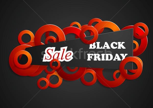 Black friday résumé vecteur design lumière signe Photo stock © saicle