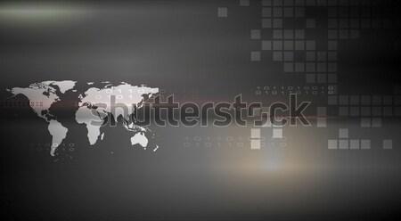Abstract hi-tech dark background Stock photo © saicle
