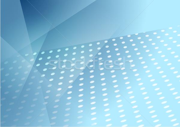 Abstract blu tech punteggiata vettore modello di progettazione Foto d'archivio © saicle