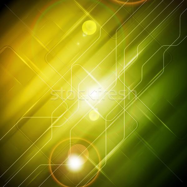 Tech аннотация желтый зеленый scifi Сток-фото © saicle