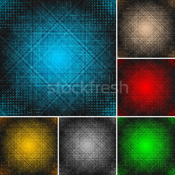 Set of textural backgrounds (eps 10) Stock photo © saicle