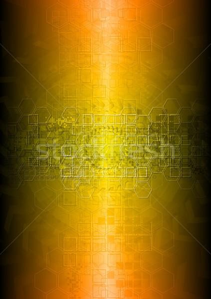 Trillend technische abstractie heldere vector eps Stockfoto © saicle