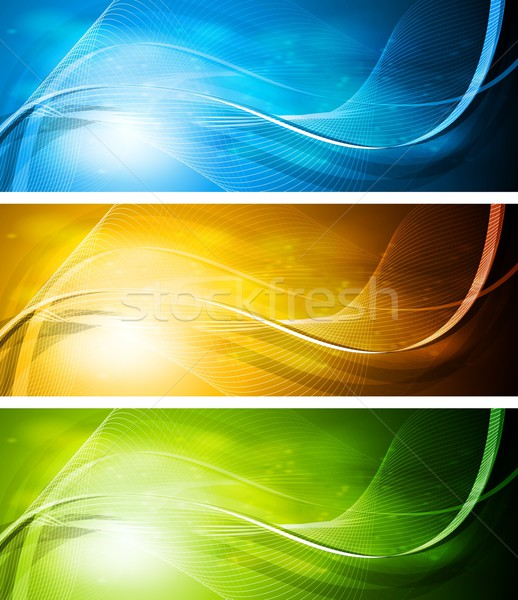 Set of bright banners Stock photo © saicle