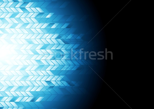 Meetkundig donkere Blauw vector ontwerp textuur Stockfoto © saicle
