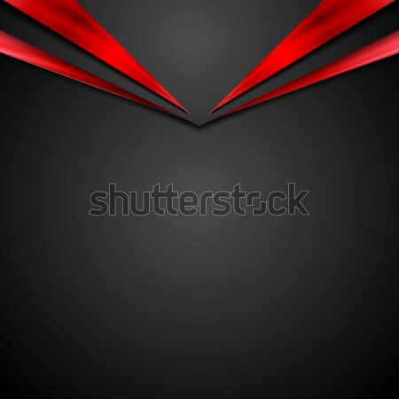 Nero rosso contrasto corporate abstract arrow Foto d'archivio © saicle