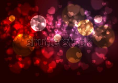Stok fotoğraf: Mor · kırmızı · bulanık · kalpler · bokeh · etkileri