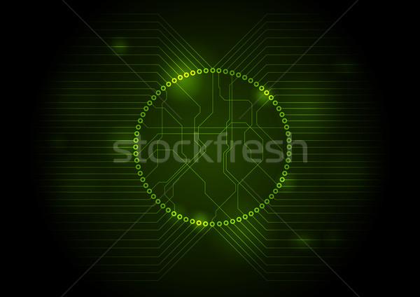 Oscuro verde tecnología circuito Internet luz Foto stock © saicle