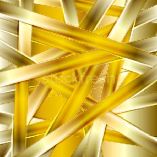 Luminoso abstract vettore tessitura oro Foto d'archivio © saicle