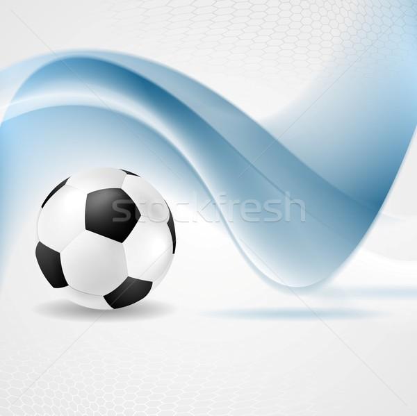 Abstract waves and football Stock photo © saicle