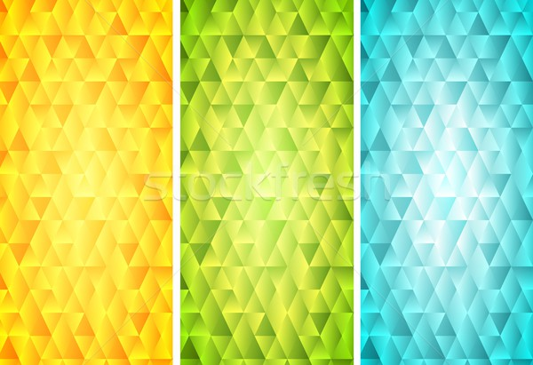 Bright mosaic tech vertical banners Stock photo © saicle