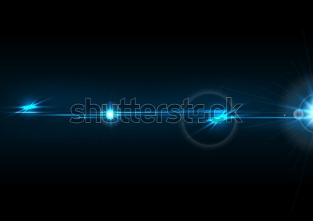Blue glow lens flare effect vector design Stock photo © saicle