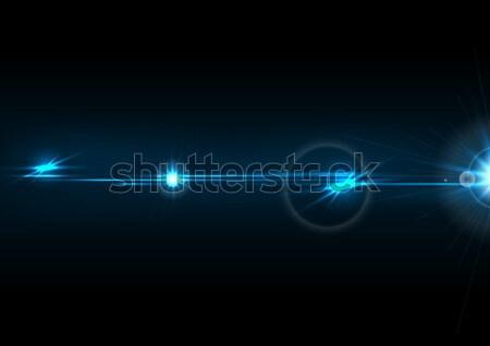Azul brillo efecto vector diseno Foto stock © saicle