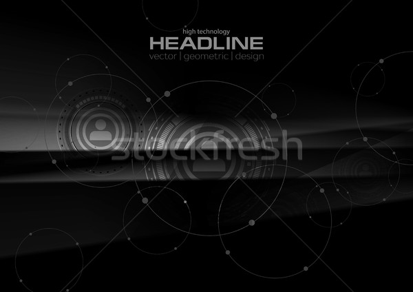 Abstract black technology HUD graphic design Stock photo © saicle