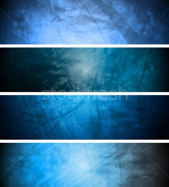 Blue textural backgrounds set Stock photo © saicle