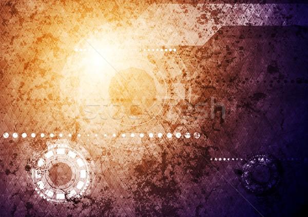 Grunge vector ontwerp textuur abstract licht Stockfoto © saicle