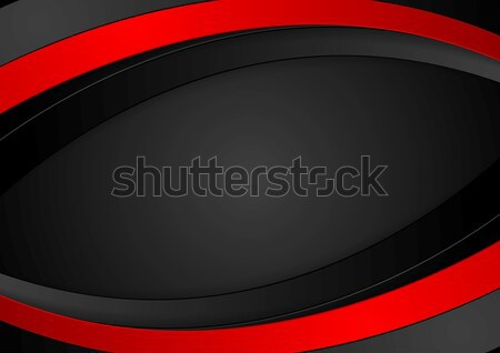 Stock photo: Red and black abstract corporate waves