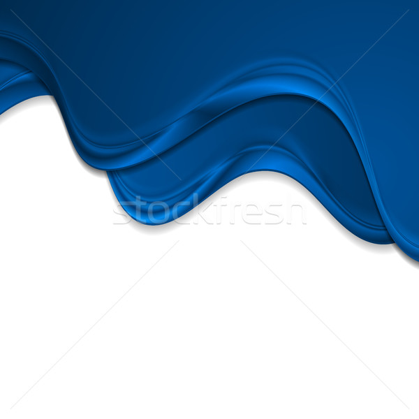 Abstract blue smooth waves corporate background Stock photo © saicle