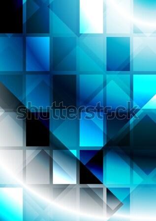 Vibrante abstração brilhante abstrato eps Foto stock © saicle