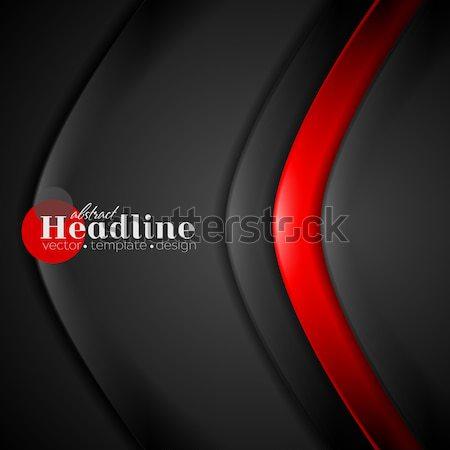 Abstract wavy template. Metallic style Stock photo © saicle