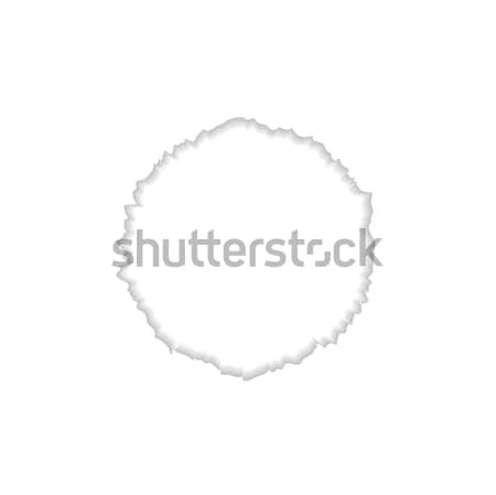 Abstract round ragged edge Stock photo © saicle