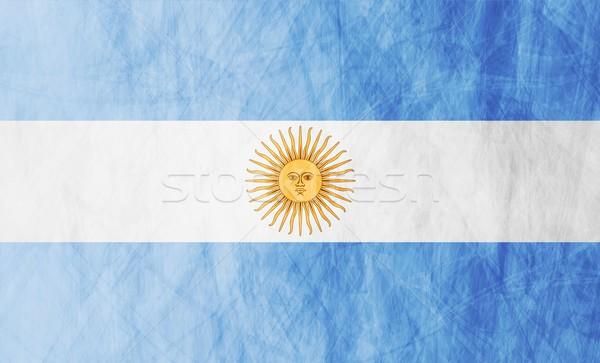Argentín grunge zászló illusztráció vektor textúra Stock fotó © saicle