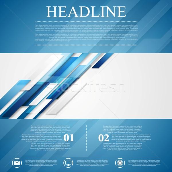 синий Flyer вектора движения дизайна Сток-фото © saicle
